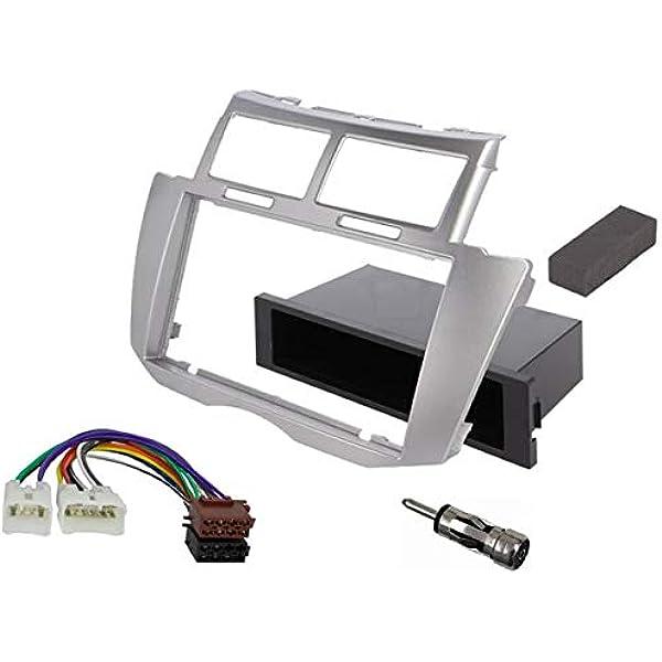 Sound Way 1 Din 2 Din Radio Blende Einbau Rahmen Adapter Einbauset Kompatibel Mit Toyota Yaris 2005 2011 2d Yaris09 Auto
