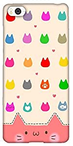 Snoogg Cute Kitty Icons Designer Protective Back Case Cover For Xiaomi Mi4I /...