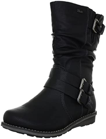 Rieker 96362-00, Damen Langschaft Stiefel, Schwarz (schwarz / 00), 36 EU (3.5 Damen UK)