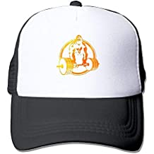 WYICPLO 2019 Funny Hip Hop Mesh Baseball Caps Gold Gorilla Lifting Fitness Trucker Hats Grid Adult