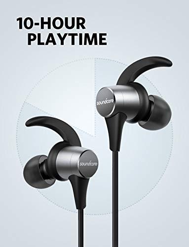 Soundcore Spirit Pro Bluetooth Kopfhörer, In Ear magnetisches Headset mit Dualem EQ/ 10 Stunden Akkulaufzeit/IPX 7 SweatGuard Technologie, für Sport, Workouts und viel mehr (Grau) - 3