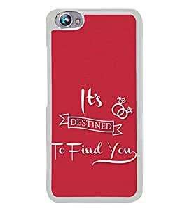 Love Quote 2D Hard Polycarbonate Designer Back Case Cover for Micromax Canvas Fire 4 A107