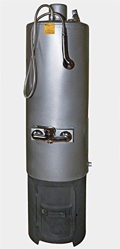 80ltr festbrennstoffen betriebenen Wasser Heizung Holz Boiler Boden Halterung-Vertikal (Holz Kessel)