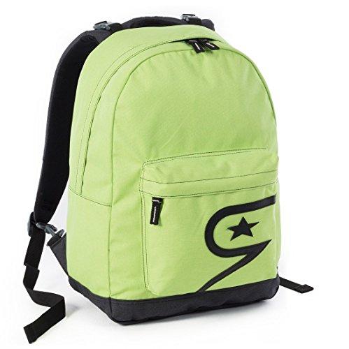 Zaino seven - the double pro - verde - 24 lt schienale compatibile con cover e reversibile