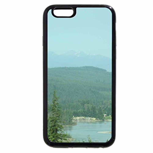 iPhone 6S / iPhone 6 Case (Black) The Rockies mountains in BC - Canada 35