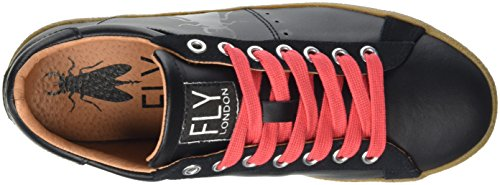 FLY London Damen Berg823fly Sneakers Schwarz (Black/Black(Redlaces) 003)