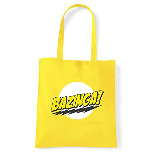 Art T-shirt, Borsa Shoulder Bazinga, Shopper, Mare Giallo