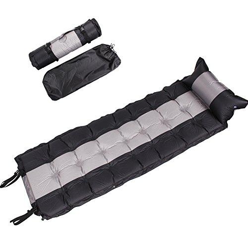 & # x3010; flash automatico Turtle & # x3011; materassino autogonfiante materasso gonfiabile con cuscino per escursionismo, campeggio per interni ed esterni può essere impiombato, 192* 62* 5, Black - Pulsanti Turtle