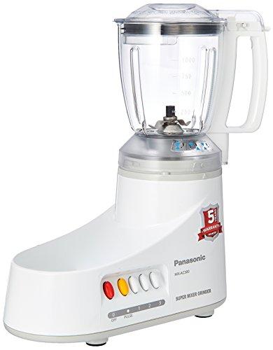 Panasonic MX-AC300-H 550-Watt 3-Jar Super Mixer Grinder (Grey)  available at amazon for Rs.3939