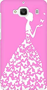 AMEZ designer printed 3d premium high quality back case cover for Xiaomi Redmi 2 Prime (baby pink white girl princess)