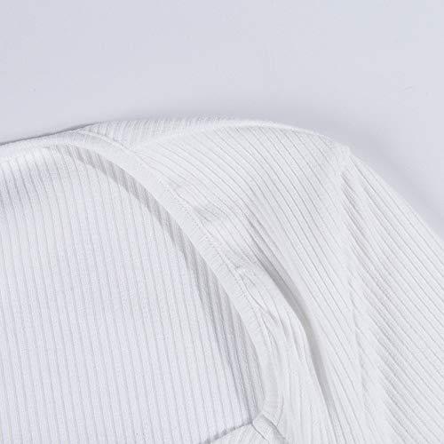 FIRSS-BH Damen Bodysuit Kurzarm Bodys Tops Rompers Perspektive Jumpsuit Overalls Rundhals Playsuit Elegant Strampler Basic Kurzarm-Body Unterwäsche Outfit Babydoll Bluse M - 7