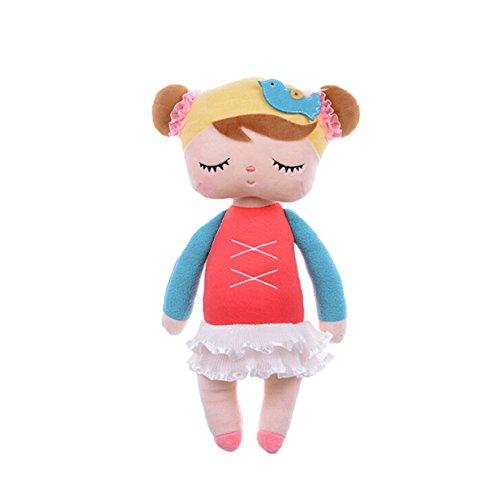 Lalang Baby Stofftier Spielzeug Stoffspielzeug Baumwolle Gefüllte Kaninchen Plüschtier (rosa)