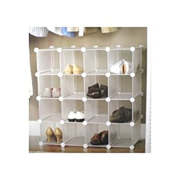 INTERLOCKING SHOE ORGANIZER SHOE STORAGE RACK for 16 PAIRS: Amazon ...