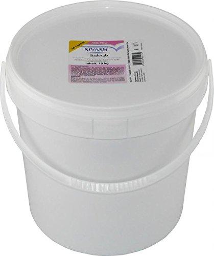 Badesalz Farbe (SIVASH-Badesalz - Meersalz aus rosa Sole, 10 kg (20 Bäder). Unraffiniert, naturbelassen, mild. Rosa Farbe der Sole dank Beta-Carotin aus der Mikroalge Dunaliella Salina. Schönes Badevergnügen auch bei Neurodermitis, Psoriasis, Rheuma)