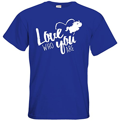 getshirts - Pummeleinhorn - T-Shirt - love who you are Royal Blue