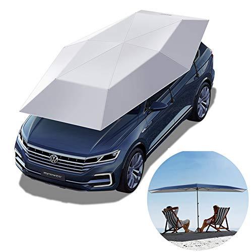 Auto Tenda, Tetto Automatico Ombrello Tenda, Pop-Up, Tenda Beach Anti-UV, Impermeabile, Antivento, Neve, grandine, Tenda con Tenda Automatica Ombrello Aperto,Silverautomatic,13.8FT