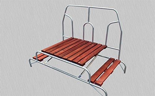 Vira Leiter für Modul 2Ebenen in Holz mit Geländer