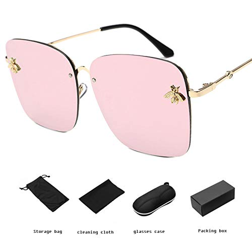 YANGPEI Polarisierte Sonnenbrille Frauen & Einfachen Stil GroßEn Rahmen Sonnenbrille & Frauen,C