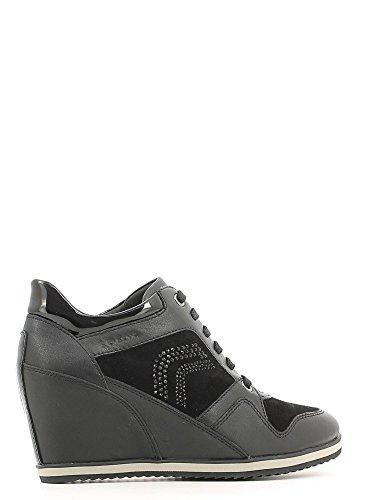 Geox , Damen Sneaker Schwarz