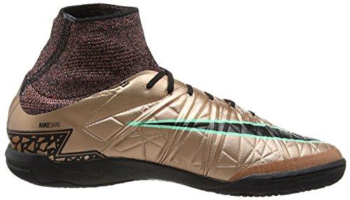 Nike Herren Hypervenomx Proximo Ic Fußballschuhe Gold / Schwarz / Grün (MTLC brnz Rd / Blk-Weiß-Grn GLW)