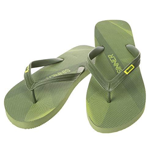 SINNER Herren Zehentrenner - Komfortable Flip Flops mit Rutschfester Sohle - Hochwertiges Design in Mehrere Modische Farben, Ruteng - Grün, 45 EU