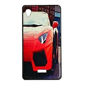 ksc sales New Rubber Finish Printed Silicone Soft Back Case Cover For Intex Aqua Slice 2