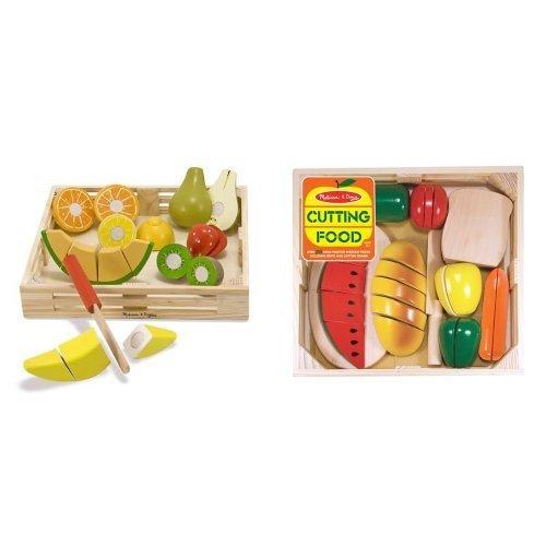 Melissa & Doug Obst und Gemüse Set zum selber Schneiden / Kinderküche / Spielküche / Zubehör / Holzspielzeug (Melissa Und Doug Spielzeug Schneiden)