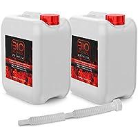 2 uds 5 Litros Bioetanol con Embudo | Etanol Vegetal para Chimeneas 10l
