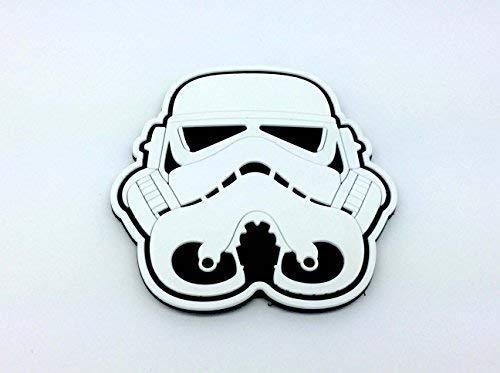 Stormtrooper Helm Weiß Star Wars PVC Airsoft Paintball Klett Emblem Abzeichen (Star Wars Pvc-patch)