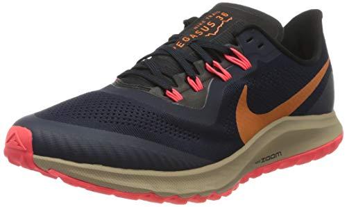 Nike Air Zoom Pegasus 36 Trail, Zapatilla de Correr para Hombre, Obsidiana/Magma Naranja-Negro, 42 EU...