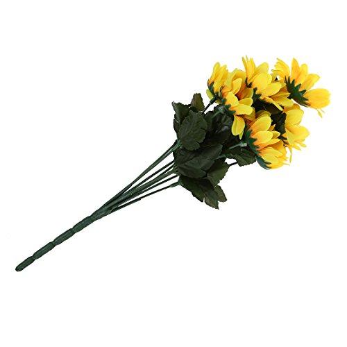 Kuenstliche gelb Sonnenblume – TOOGOO(R) 15″ kuenstliche gelb Sonnenblume Blumenstrauss Buero Zuhause Dekor
