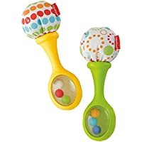 Fisher-Price Maracas musicales, juguete y sonajero para bebé +3 meses (Mattel BLT33)