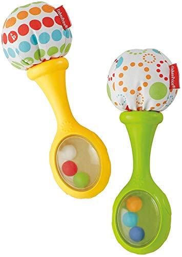 Fisher-Price Maracas musicales, juguete y sonajero para bebé +3 meses Mattel BLT33