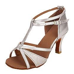 Mittlere Absätze für Frauen Damen Nude Latin Tanzschuhe Praxis Hochzeit Leistung Tanzkleid Mode Walzer Ballsaal Sandalen Stabile Schuhe Quadratwurzel Schuhe