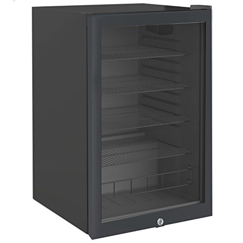 Cookology CBC130BK Undercounter Drinks Fridge | 54cm Glass Door Beverage Cooler