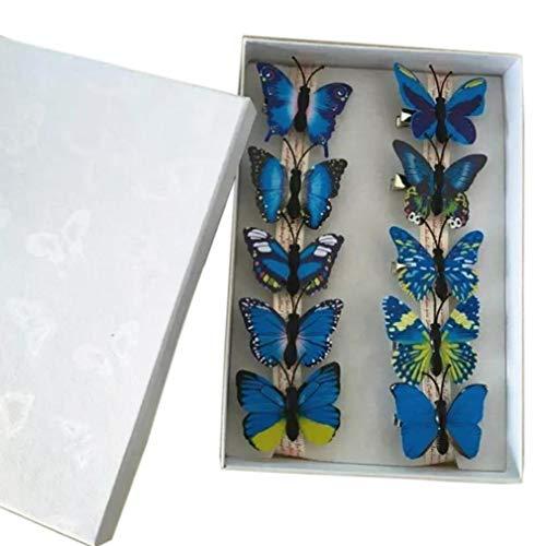 mulation Der Farbe Schmetterlings-Haar-Clips Für Mädchen-Frauen-Haar-Zusätze Barrette ()