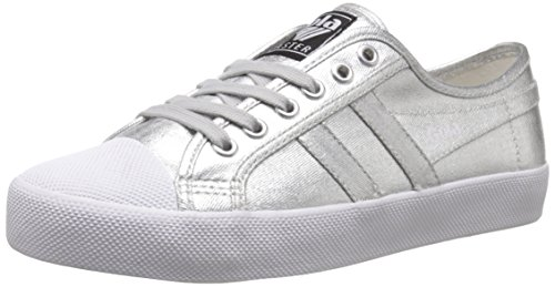 Gola Coaster Metallic, Damen Sneakers, Silber (Silver), 37 EU (4 Damen UK)