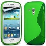 JAMMYLIZARD | S-Line Silikon Case Hülle für Samsung Galaxy S3 Mini, GRÜN