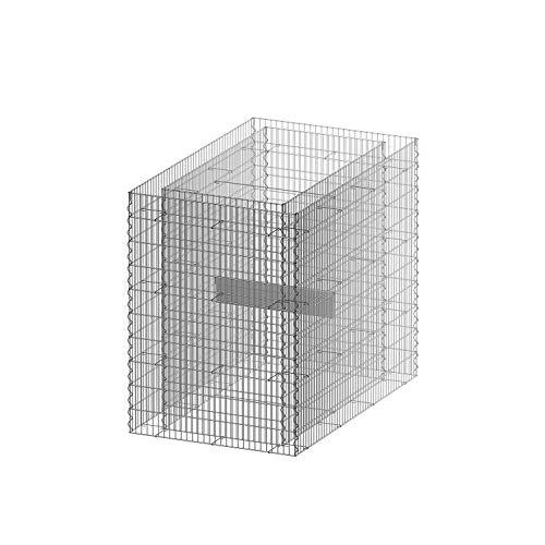 bellissa Gabionen-Hochbeet PREMIUM 4-Eck – 95597 – Steinkorb-Pflanzkübel rechteckig – Bausatz inkl. Trennfolie – 120 x 75 x 100 cm