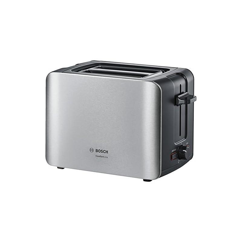 Bosch Tat6a913 Kompakt Toaster Comfortline Automatische Brotzentrierung Auftaufunktion 1090 W Edelstahlschwarz