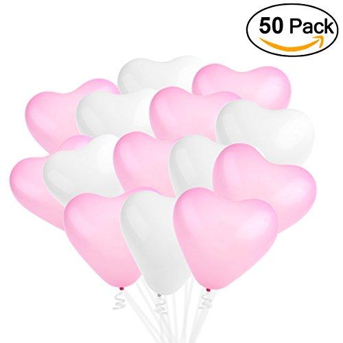 50 globos en forma de corazón para la decoración de boda