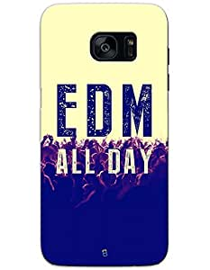Samsung Galaxy S7 Egde Cases & Covers - Edm All Day Case by myPhoneMate - Designer Printed Hard Matte Case - Protects from Scratch and Bumps & Drops.
