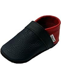 Mopu's® Krabbelschuhe - Lederpuschen in sandfarben mit Löwenkopf - handgemachte Markenqualität aus Deutschland dr5KYu2S