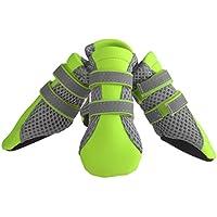 Petacc Zapatos para Perros Antideslizante Botas para Perros Transpirable con Tira Reflectante para Perro Pequeño (S)