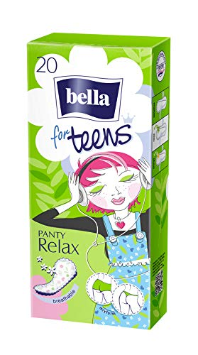 bella for teens Slipeinlagen Relax: speziell auf die Bedürfnisse sehr junger Frauen abgestimmt (1 x 20 Stück)