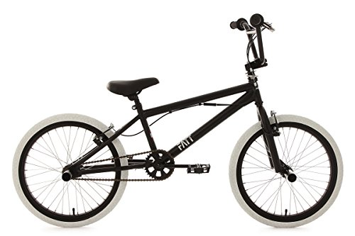 KS Cycling 603B BMX Freestyle Mixte Enfant, Noir, 20""