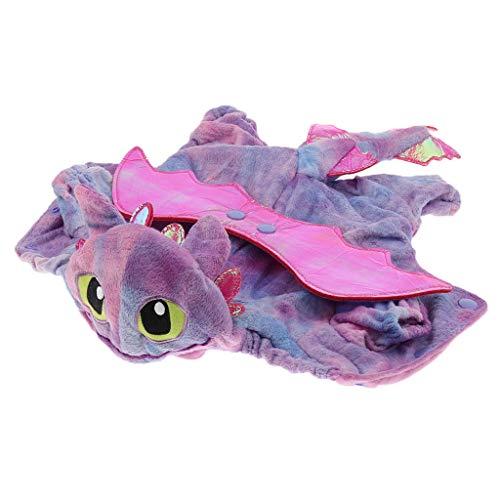 D DOLITY Haustier Hund Katze Halloween Drachen Kostüm Cosplay Kleidung - Lila, M (Lila Drachen Kostüm)