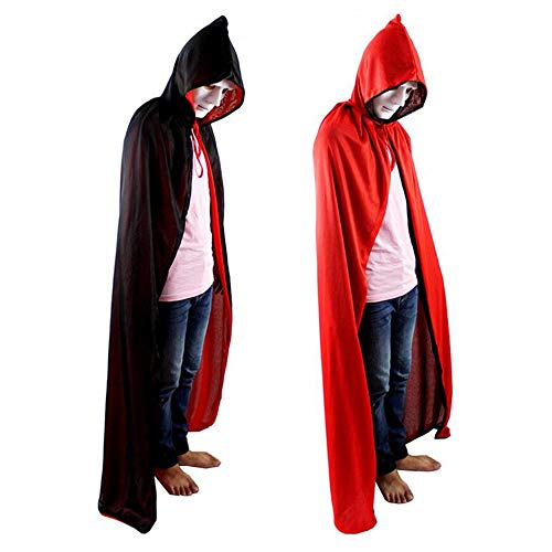 Vampir Kostüm Party Stadt - WXH Reversible Hooded Adult Vampire Cape