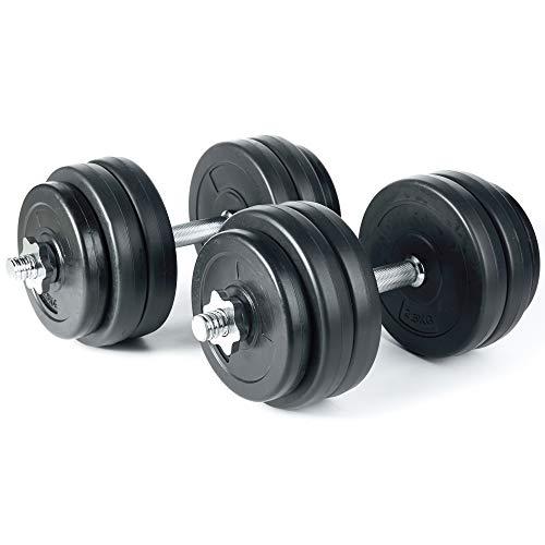 Jalano Kurzhanteln 2er Set 30kg 15kg Hantelstangen Gewichte Kunststoff