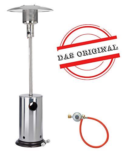 Ph/ömix Keramik Gasheizofen 4,2 KW Gasheizung Gasofen Heizstrahler Gasstrahler Katalytofen Zeltheizung inkl Schwarz Gasschauch und Druckminderer Set